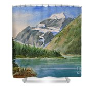 Mt. Edith Cavell W/c Shower Curtain