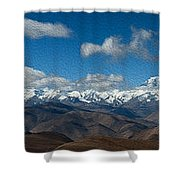 Mt. Everest And Himalaya Shower Curtain