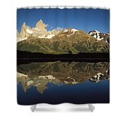 Mt Fitzroy At Dawn Patagonia Shower Curtain
