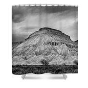 Mt. Garfield - Black And White Shower Curtain