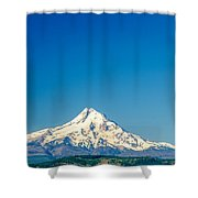Mt. Hood And Blue Sky Shower Curtain