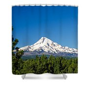 Mt. Hood And Pine Trees Shower Curtain