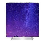 Mt. Hood Milky Way 01 Shower Curtain