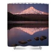 Mt Hood Reflection Shower Curtain