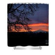 Mt Hood Sunrise Shower Curtain