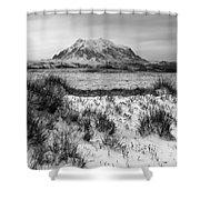 Mt Illimani In Monochrome Shower Curtain