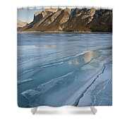 Mt. Inglismaldie And Ice Formations Shower Curtain