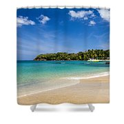 Mt. Irvine Beach Again Shower Curtain