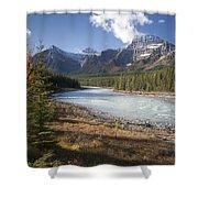Mt Kerkeslin And Athabaska River Jasper Shower Curtain