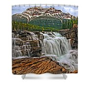 Mt. Kerkeslin  Athabasca Falls Shower Curtain
