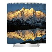 Mt Makalu And Mt Chomolonzo Shower Curtain