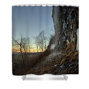 Mt Mckay Spring Waterfall Shower Curtain