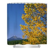 1m5720-mt. Mcloughlin In Fall, Or Shower Curtain
