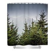 Mt. Mitchell In Fog Shower Curtain