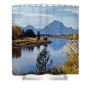 1m9208-mt. Moran And The Snake River, Wy Shower Curtain