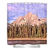 Mt Moran From Colter Bay Shower Curtain