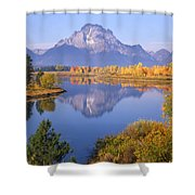 1m9234-mt. Moran Reflection, Wy Shower Curtain