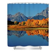 Mt. Moran Reflection Shower Curtain