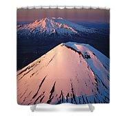 Mt Ngauruhoe And Mt Ruapehu Shower Curtain