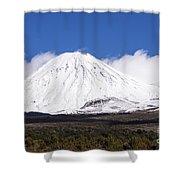 Mt. Ngauruhoe Shower Curtain