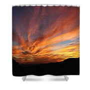 Mt Ord Sunset Arizona Shower Curtain