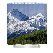 1m3627-mt. Outram And Mt. Forbes Shower Curtain