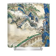 Mt Penglai Mountain Of Immortals Shower Curtain