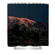 Mt Rainier At Dawn Shower Curtain