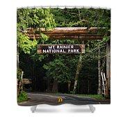 Mt Rainier Gateway Shower Curtain