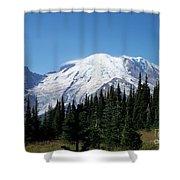 Mt. Rainier In August Shower Curtain