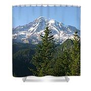 Mt. Rainier In Summer Shower Curtain