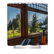 Mt. Rainier Visitor's Center Shower Curtain