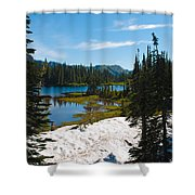 Mt. Rainier Wilderness Shower Curtain