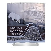 Mt Robson  Shower Curtain