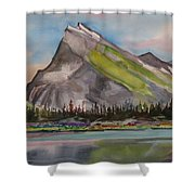 Mt. Rundle Shower Curtain