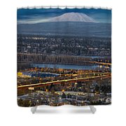 Mt Saint Helens During Blue Hour Shower Curtain