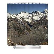 Mt Sefton Hooker Glacier And Mt Cook Shower Curtain