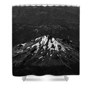 Mt Shasta Black And White Shower Curtain