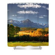 Mt Sneffels And The Dallas Divide Shower Curtain by Ken Smith