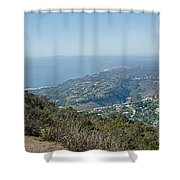 Mt. Soledad - View To The North Shower Curtain