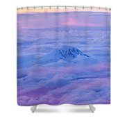 Above The Clouds At Sunset Shower Curtain