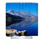 Mt St Helens Reflecting Into Spirit Lake   Shower Curtain
