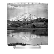 Mt. Tamalpais In Snow Shower Curtain