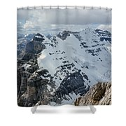 T-703510-mt. Victoria Seen From Mt. Lefroy Shower Curtain