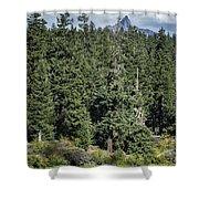 Mt Washington Behind Clear Lake Shower Curtain