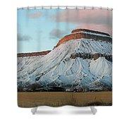 Mt.garfield Winter Shower Curtain