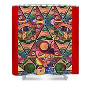 Much More Than A Face - A Joy Of Design Series Compilation Shower Curtain
