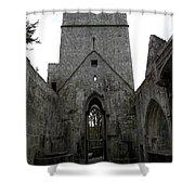 Muckross Abbey Steeple Shower Curtain