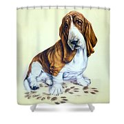 Mucky Pup Shower Curtain by Andrew Farley