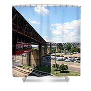 Mud Island In Memphis Shower Curtain